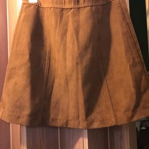 Hollister Skirts - Hollister faux suede A line mini skirt